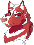 FP Commissions- Unnamed Dog Character by MetalWolfGemstone