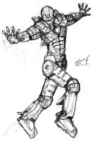 Ironman quick pencil sketch by Bombadere