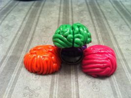 Neon Colored Brain Rings by KatGore