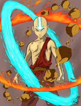 Avatar Aang the last airbender by theArTBomB