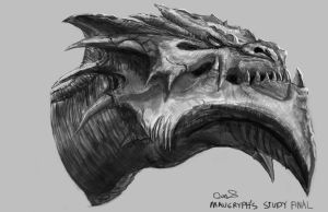 Daily Painting #46-  Fierce Dragon (Study/ Copy) by maugryph