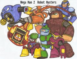 Robot Masters DESTROY!!!! by Baragon1314