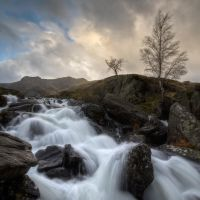 Low angle waterfall by CharmingPhotography