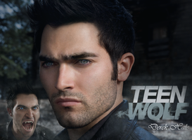 Derek Hale Wallpaper by Vampiric-Time-Lord
