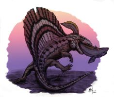 The Bull Finback and the Eel Shark by Ashere