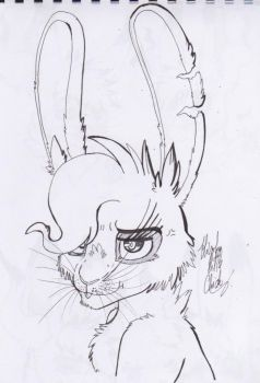 Hmpf!! [ sketch art ] [ gift ] by Hiyoko-little-chick
