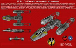 BTL Y-Wing Fighter Bomber ortho [New] by unusualsuspex