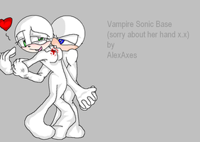 Vampire Sonic base by AlexAxes