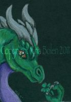 St Patricks Day Dragon ACEO by The-GoblinQueen
