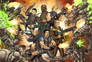 The Expendables vs Predators by RubusTheBarbarian