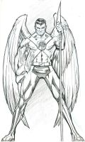 Hawkman Sketch by guinnessyde