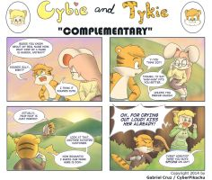 Cybie and Tykie - Complementary by CyberPikachu