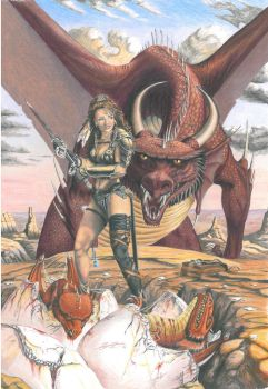 Trouble - Original by Larry Elmore. by Supergeo1