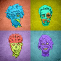Zombie Head Quartet by JackHook