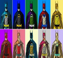 Batman ten panel comic print pop art by TheGreatDevin