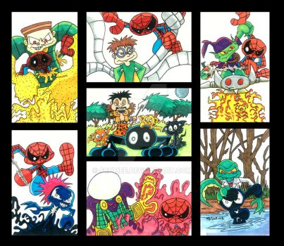 Spiderman Marker Collage by 5chmee