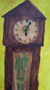 Grandfather clock painting by TBadenhorst12