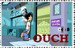 OUCH stamp by RedBloodyRose