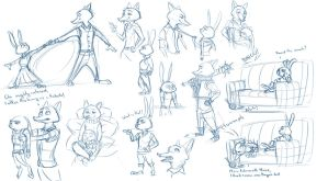 Even More zoot sketches by Dante-mL