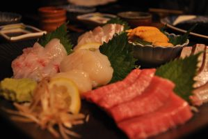 Sashimi platter for 4 by amaegari