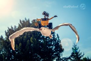 I believe I can fly - Wall.E by strehlistisch