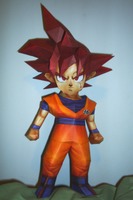 Goku - Super Saiyan God by sgonzales22
