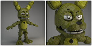 FNAF WORLD ADVENTURE SPRINGTRAP! (Updated texture) by Qutiix