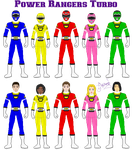 Power Rangers Turbo by Ameyal