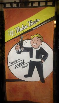 FALLOUT 4 NUKA BEER CURTAIN - *SOLD* by krishnacreative