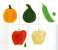 Mythical fruit prints by IBRich