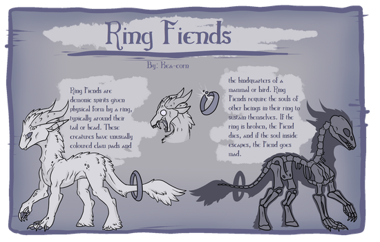 Ring Fiends Reference {Closed Species} by Kea-Corn