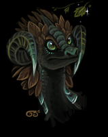 Asian earth dragon by griffsnuff