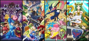 Super Smash Collage by LeopardSixteen