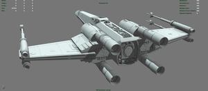 T-65 X-wing Wip02 by JasonMartin3D