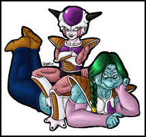 frieza and zarbon by Le-Rapps