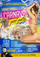 carnaval pool party flyer by donmoj