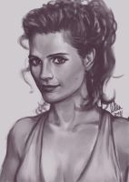 Sketch for Stana Katic by tman2009