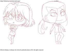 -KimShes CHIBIS Sketch. by Leeleechanlee