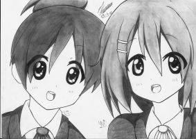 Ui and Yui. by PatriciaMuacMuac