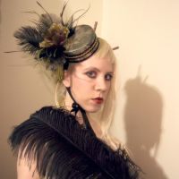 Green Silk Pillbox Hat by apatico