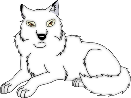 Aniu the white wolf by ArticWolf14