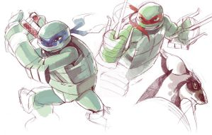 TMNT 2012 sketch by ai-eye