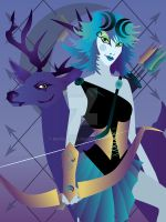 Artemis with Deer by remdesigns