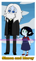 Simon and Marcy in Steven Universe style by Snowflake-owl
