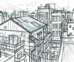 perspective study 2 by yuukitaachi