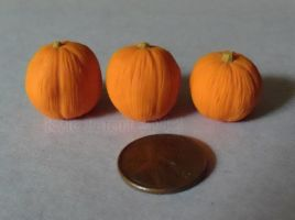 Miniature Pumpkin Trio by Kyle-Lefort