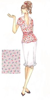 Fashion Illustration: Print 1 by Lunatiger