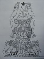 egyptic vase by candycotten