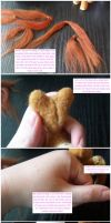 Tutorial: Rooting hair in needle felted figures by SnowFox102
