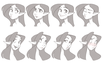 Girl Expression Sheet